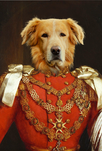 The Commando Custom Pet Portrait - Noble Pawtrait