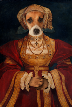 Load image into Gallery viewer, Lady in Orange Custom Pet Portrait Digital Download - Noble Pawtrait