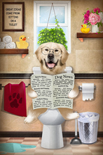 Load image into Gallery viewer, The Bathroom Reader Custom Pet Portrait - Noble Pawtrait