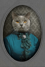 Load image into Gallery viewer, The Vintage Lady Custom Pet Portrait Digital Download - Noble Pawtrait
