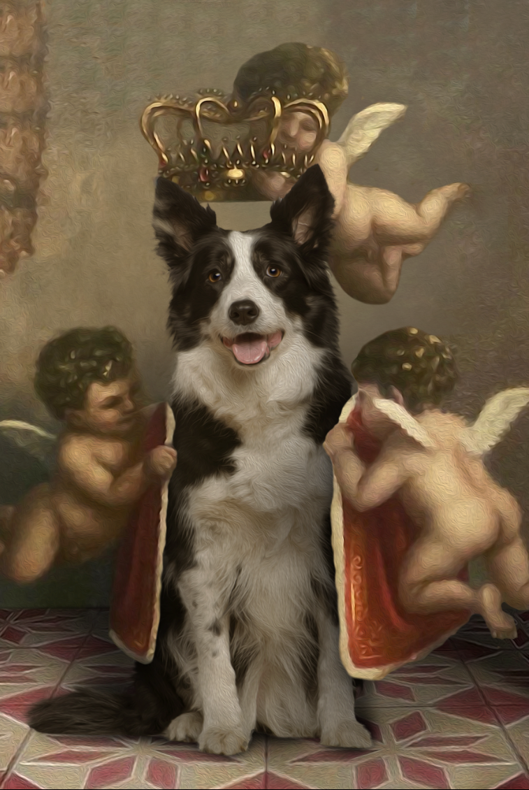 The Royal Angel Custom Pet Portrait Poster - Noble Pawtrait