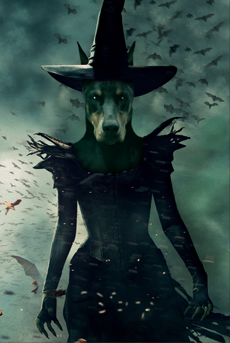 The Witch Custom Pet Portrait Digital Download - Noble Pawtrait