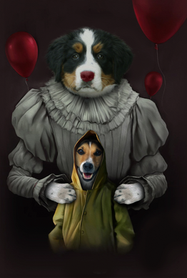 The Clowns Custom Pet Portrait Digital Download - Noble Pawtrait