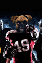 Load image into Gallery viewer, The American Footballer Custom Pet Portrait - Noble Pawtrait