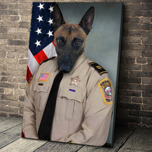 Load image into Gallery viewer, The Sheriffs Officer Custom Pet Portrait - Noble Pawtrait