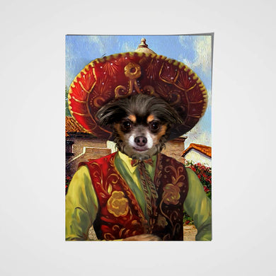 The Sombrero Custom Pet Portrait Poster - Noble Pawtrait