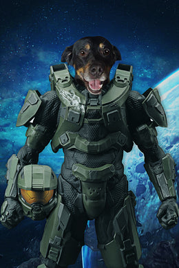 The Space Soldier Custom Pet Portrait Digital Download - Noble Pawtrait