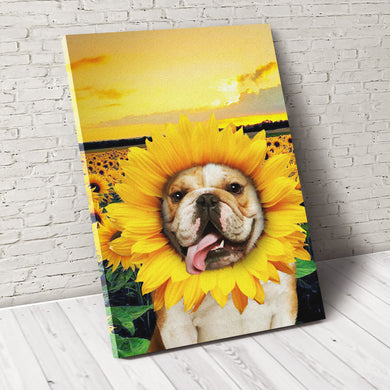 The Sunflower Custom Pet Portrait Canvas - Noble Pawtrait