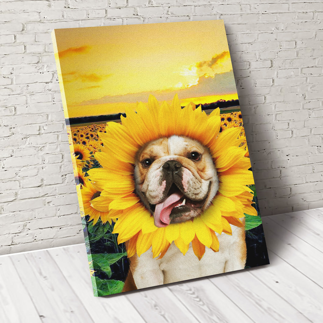 The Sunflower Custom Pet Portrait Digital Download - Noble Pawtrait