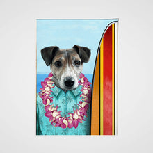 Load image into Gallery viewer, The Surfer Custom Pet Portrait Poster - Noble Pawtrait