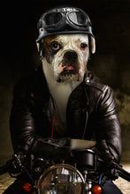 Load image into Gallery viewer, The Biker Custom Pet Portrait Poster - Noble Pawtrait