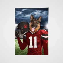Load image into Gallery viewer, Tampa Bay Fan Custom Poster Pet Portrait