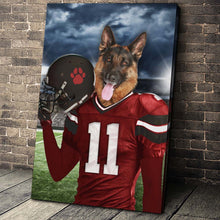 Load image into Gallery viewer, Tampa Bay Fan Custom Canvas Pet Portrait