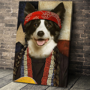 The Texas Singer Custom Pet Portrait - Noble Pawtrait