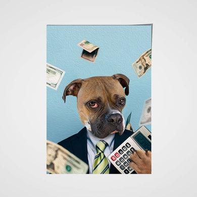The Accountant Custom Pet Portrait Poster - Noble Pawtrait
