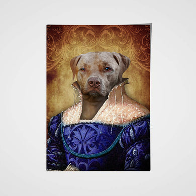 The Ambassadress Custom Pet Portrait Poster - Noble Pawtrait