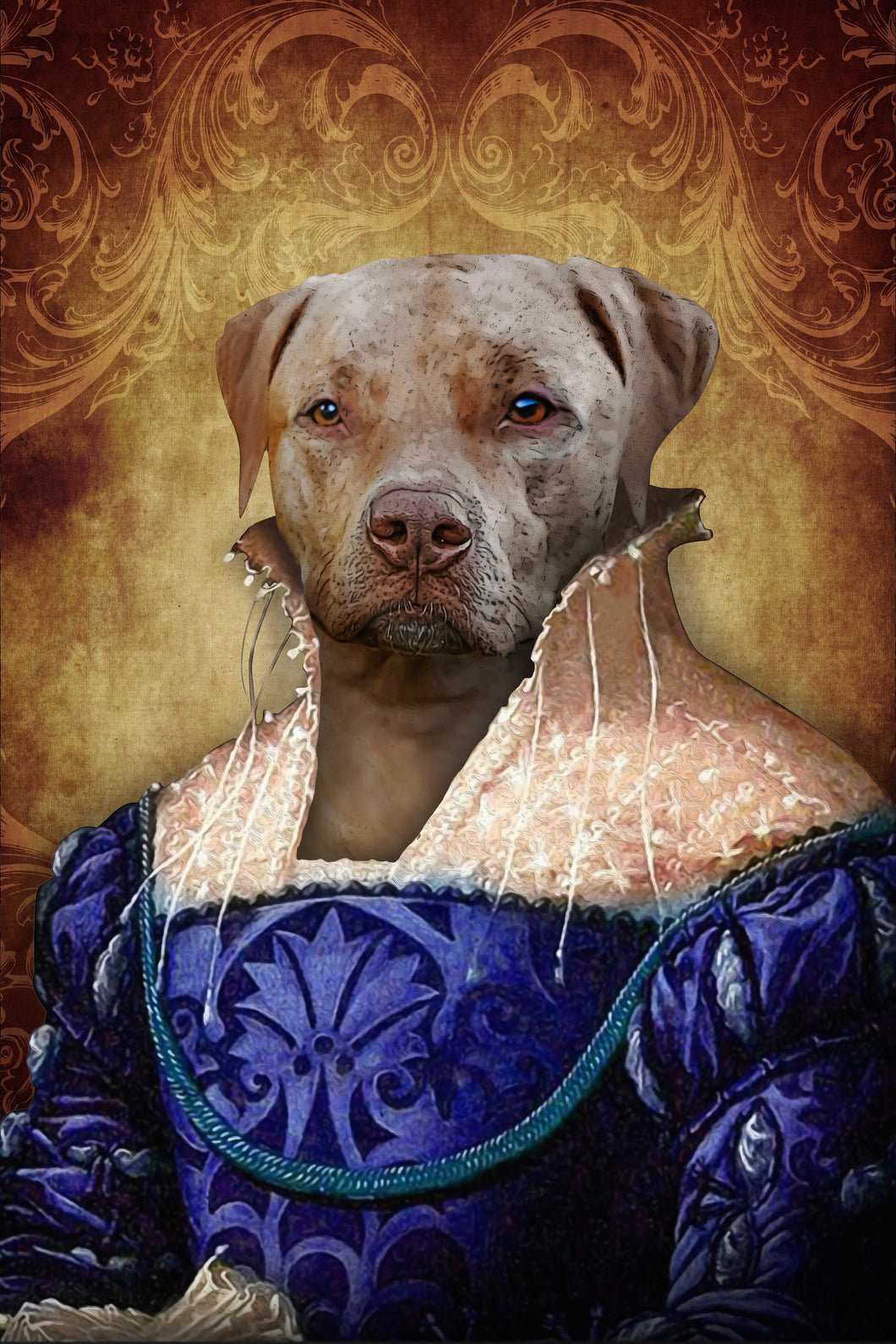 The Ambassadress Custom Pet Portrait Digital Download - Noble Pawtrait