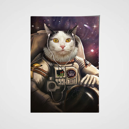 The Astronaut Custom Pet Portrait Poster - Noble Pawtrait