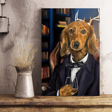 Load image into Gallery viewer, The Attorney Custom Pet Portrait Canvas - Noble Pawtrait