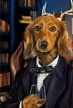 Load image into Gallery viewer, The Attorney Custom Pet Portrait Digital Download - Noble Pawtrait