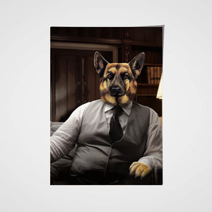 The Boss Custom Pet Portrait Poster - Noble Pawtrait