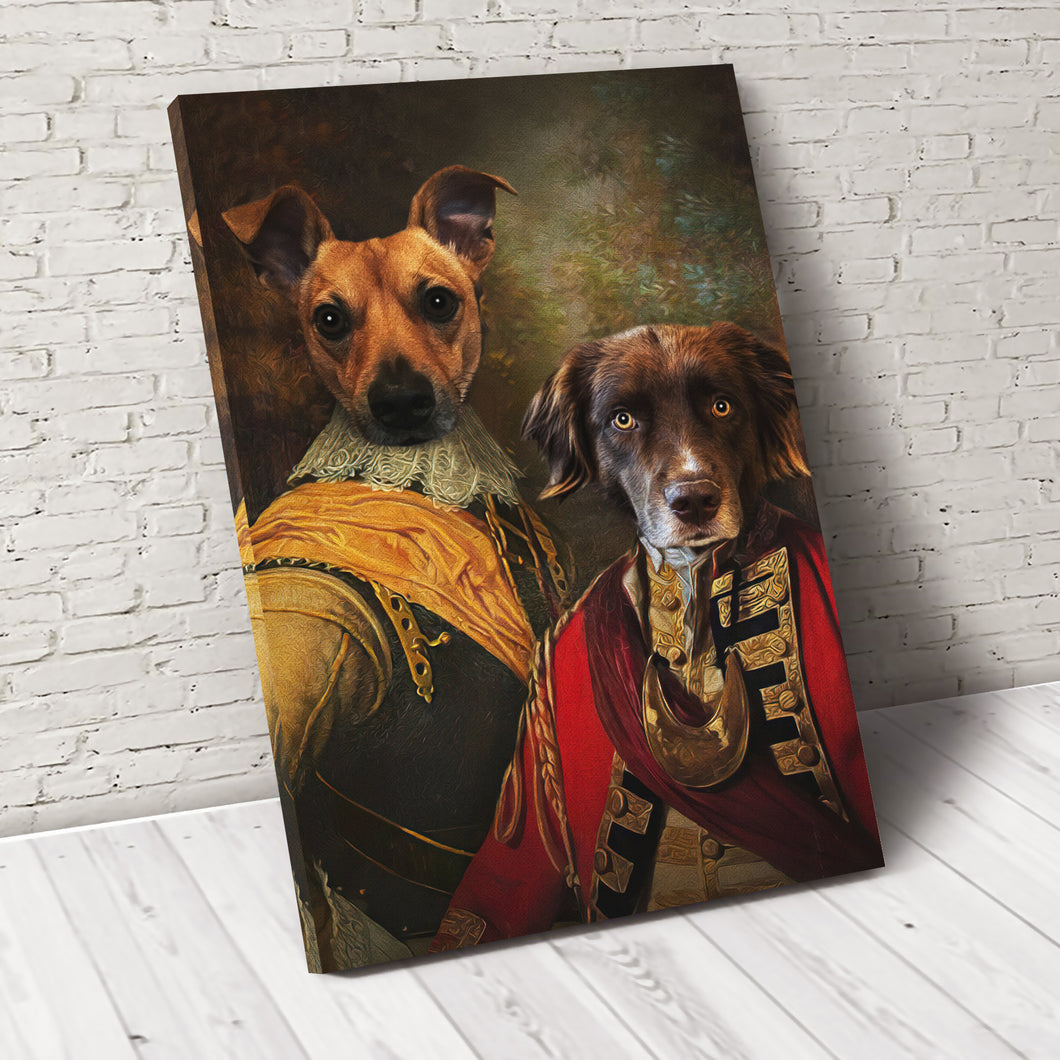 The Brotherhood Custom Pet Portrait Canvas - Noble Pawtrait