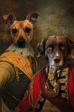 The Brotherhood Custom Pet Portrait Digital Download - Noble Pawtrait