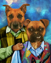 Load image into Gallery viewer, The Brothers Custom Pet Portrait - Noble Pawtrait
