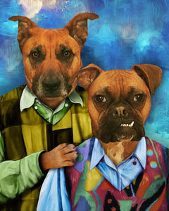 The Brothers Custom Pet Portrait Canvas - Noble Pawtrait