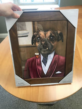Load image into Gallery viewer, The Business Man Custom Pet Portrait Canvas - Noble Pawtrait
