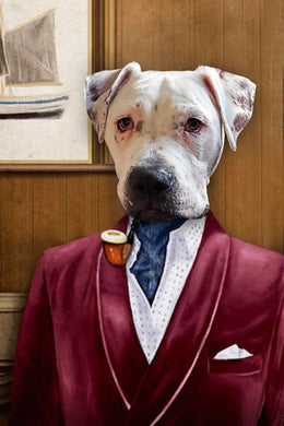 The Business Man Custom Pet Portrait Digital Download - Noble Pawtrait