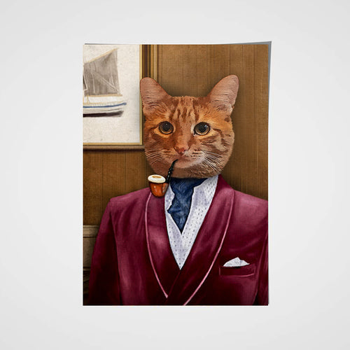 The Business Man Custom Pet Portrait Poster - Noble Pawtrait