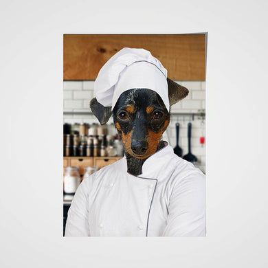 The Chef Custom Pet Portrait Poster - Noble Pawtrait