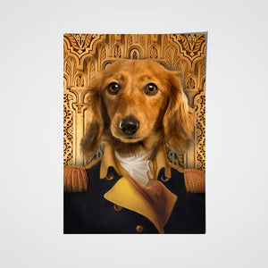 The Chief Of State Custom Pet Portrait Poster - Noble Pawtrait