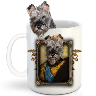 The Colonel General Custom Pet Mug - Noble Pawtrait