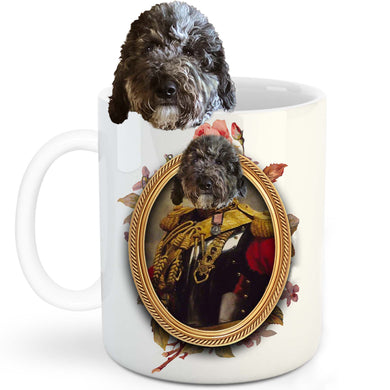 The Colonel Custom Pet Mug - Noble Pawtrait