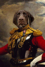 Load image into Gallery viewer, The Colonel Custom Pet Portrait Poster - Noble Pawtrait