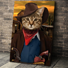 Load image into Gallery viewer, The Cowboy Custom Pet Portrait Canvas - Noble Pawtrait