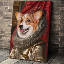Load image into Gallery viewer, The Crown Princess Custom Pet Portrait - Noble Pawtrait