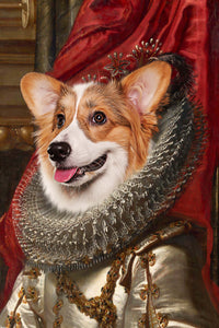 The Crown Princess Custom Pet Portrait - Noble Pawtrait
