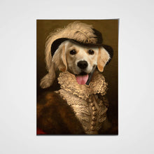 Load image into Gallery viewer, The Dame Custom Pet Portrait Poster - Noble Pawtrait