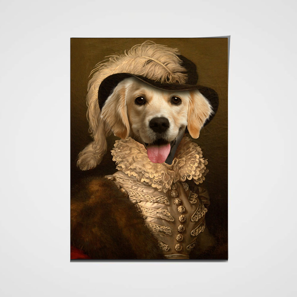 The Dame Custom Pet Portrait Poster - Noble Pawtrait