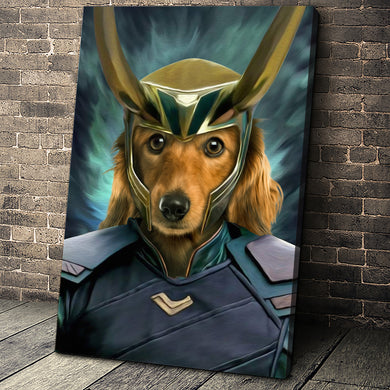 The Deceiver Paw Custom Pet Portrait - Noble Pawtrait