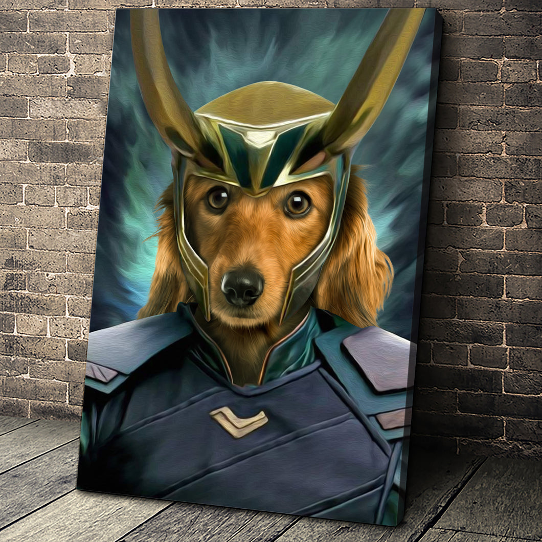 The Deceiver Paw Custom Pet Portrait Canvas - Noble Pawtrait