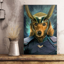 Load image into Gallery viewer, The Deceiver Paw Custom Pet Portrait Poster - Noble Pawtrait