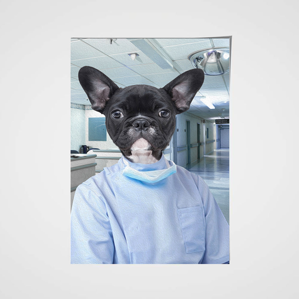 The Dentist Custom Pet Portrait Poster - Noble Pawtrait