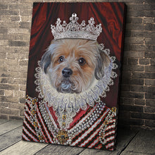 Load image into Gallery viewer, The Diamond Queen Custom Pet Portrait - Noble Pawtrait