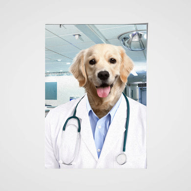 The Doctor Custom Pet Portrait Poster - Noble Pawtrait