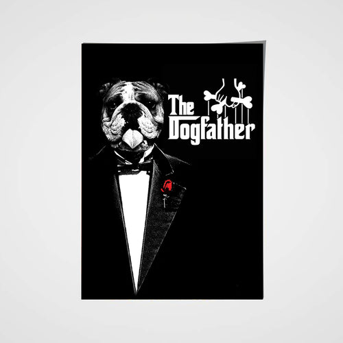 The Dog Father Custom Pet Portrait Poster - Noble Pawtrait