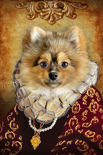 The Duchess Custom Pet Portrait Digital Download - Noble Pawtrait